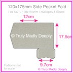 120x175mm Pocket Fold - Cottonesse Warm Grey 250gsm