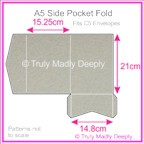 A5 Pocket Fold - Cottonesse Warm Grey 250gsm