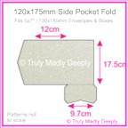 120x175mm Pocket Fold - Crystal Perle Metallic Antique Silver