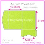 A5 Pocket Fold - Crystal Perle Metallic Apple Green