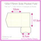 120x175mm Pocket Fold - Crystal Perle Metallic Arctic White
