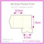 A6 Pocket Fold - Crystal Perle Metallic Arctic White