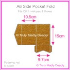A6 Pocket Fold - Crystal Perle Metallic Bronze