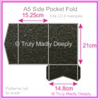 A5 Pocket Fold - Crystal Perle Metallic Glittering Black