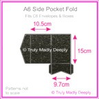 A6 Pocket Fold - Crystal Perle Metallic Glittering Black