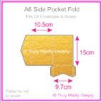 A6 Pocket Fold - Crystal Perle Metallic Gold