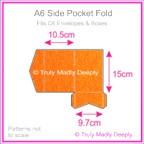 A6 Pocket Fold - Crystal Perle Metallic Orange