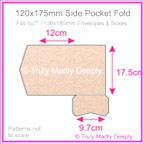 120x175mm Pocket Fold - Crystal Perle Metallic Pastel Pink
