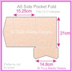 A5 Pocket Fold - Crystal Perle Metallic Pastel Pink