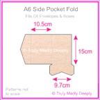 A6 Pocket Fold - Crystal Perle Metallic Pastel Pink