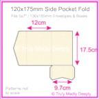120x175mm Pocket Fold - Crystal Perle Metallic Sandstone