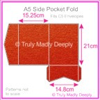 A5 Pocket Fold - Crystal Perle Metallic Scarlet Red
