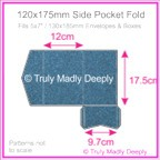 120x175mm Pocket Fold - Curious Metallics Blue Print