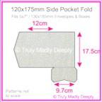 120x175mm Pocket Fold - Curious Metallics Galvanised