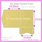 A5 Pocket Fold - Curious Metallics Gold Leaf