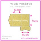 A6 Pocket Fold - Curious Metallics Gold Leaf