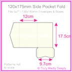 120x175mm Pocket Fold - Keaykolour Original Pure White