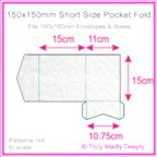 150mm Square Short Side Pocket Fold - Knight White Hammer