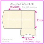 A5 Pocket Fold - Metallic Pearl Pale Buff