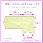 150mm Square Side Pocket Fold - Mohawk Via Felt Cream