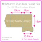 150mm Square Short Side Pocket Fold - Mohawk Via Vellum Kraft