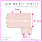 120x175mm Pocket Fold - Rives Ice Pink