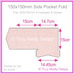 150mm Square Side Pocket Fold - Rives Ice Pink