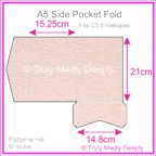 A5 Pocket Fold - Rives Ice Pink