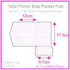 120x175mm Pocket Fold - Semi Gloss White 315gsm
