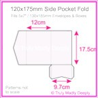 120x175mm Pocket Fold - Splendorgel White