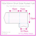 150mm Square Short Side Pocket Fold - Splendorgel White