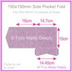 150mm Square Side Pocket Fold - Stardream Metallic Amethyst