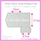 120x175mm Pocket Fold - Stardream Metallic Silver