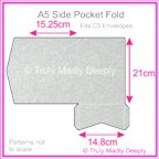 A5 Pocket Fold - Stardream Metallic Silver