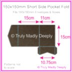 150mm Square Short Side Pocket Fold - Urban Brown