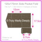120x175mm Pocket Fold - Urban Brown Ripple