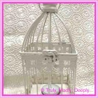 Wedding Card Bird Cage - Metal 9x9x20cm